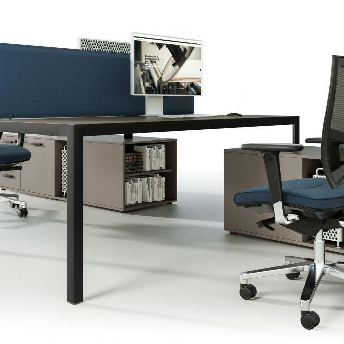 dettaglio scrivania direzionale infinity ufficio