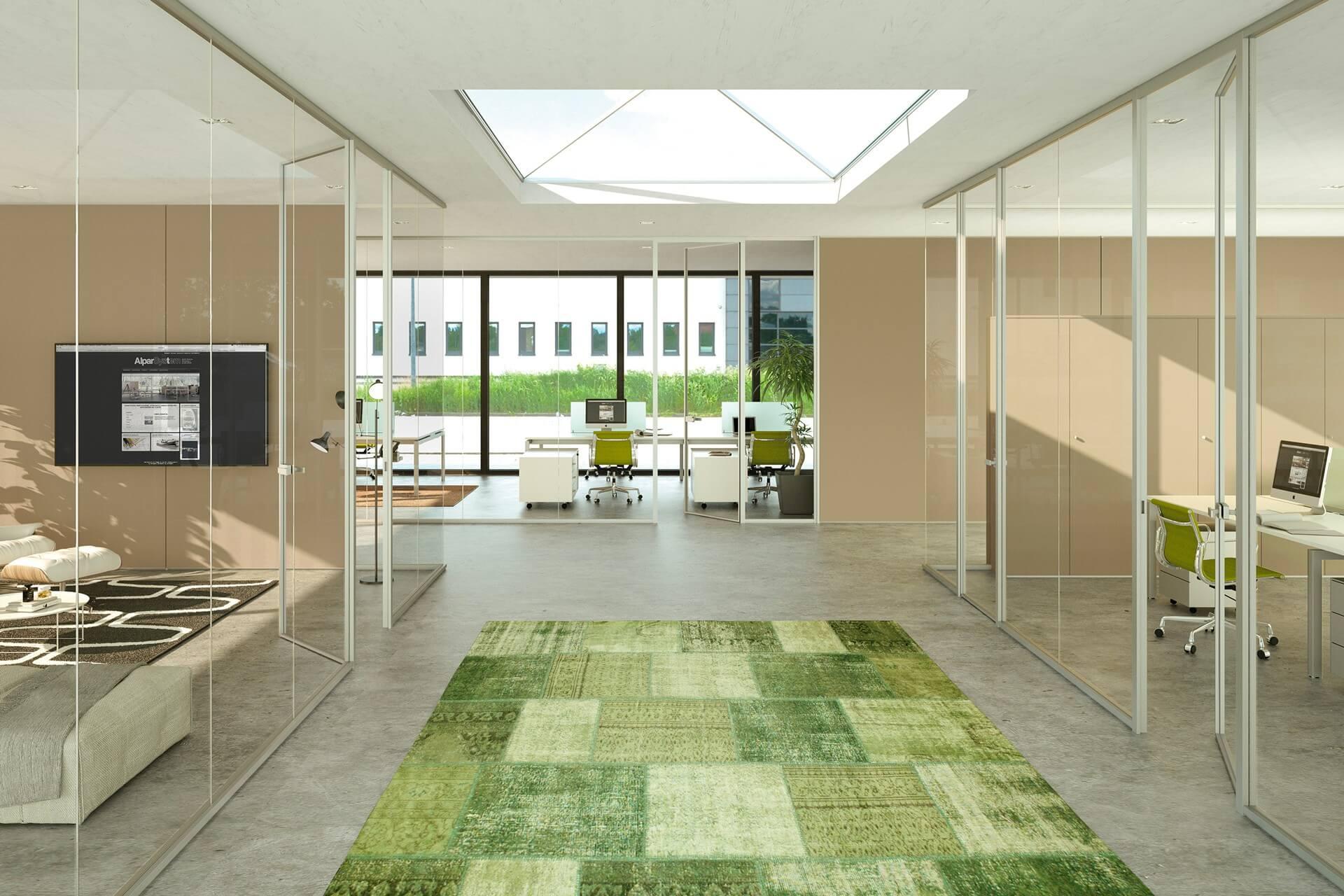 Parete Divisoria In Legno pareti divisorie in alluminio e vetro | pannelli divisori