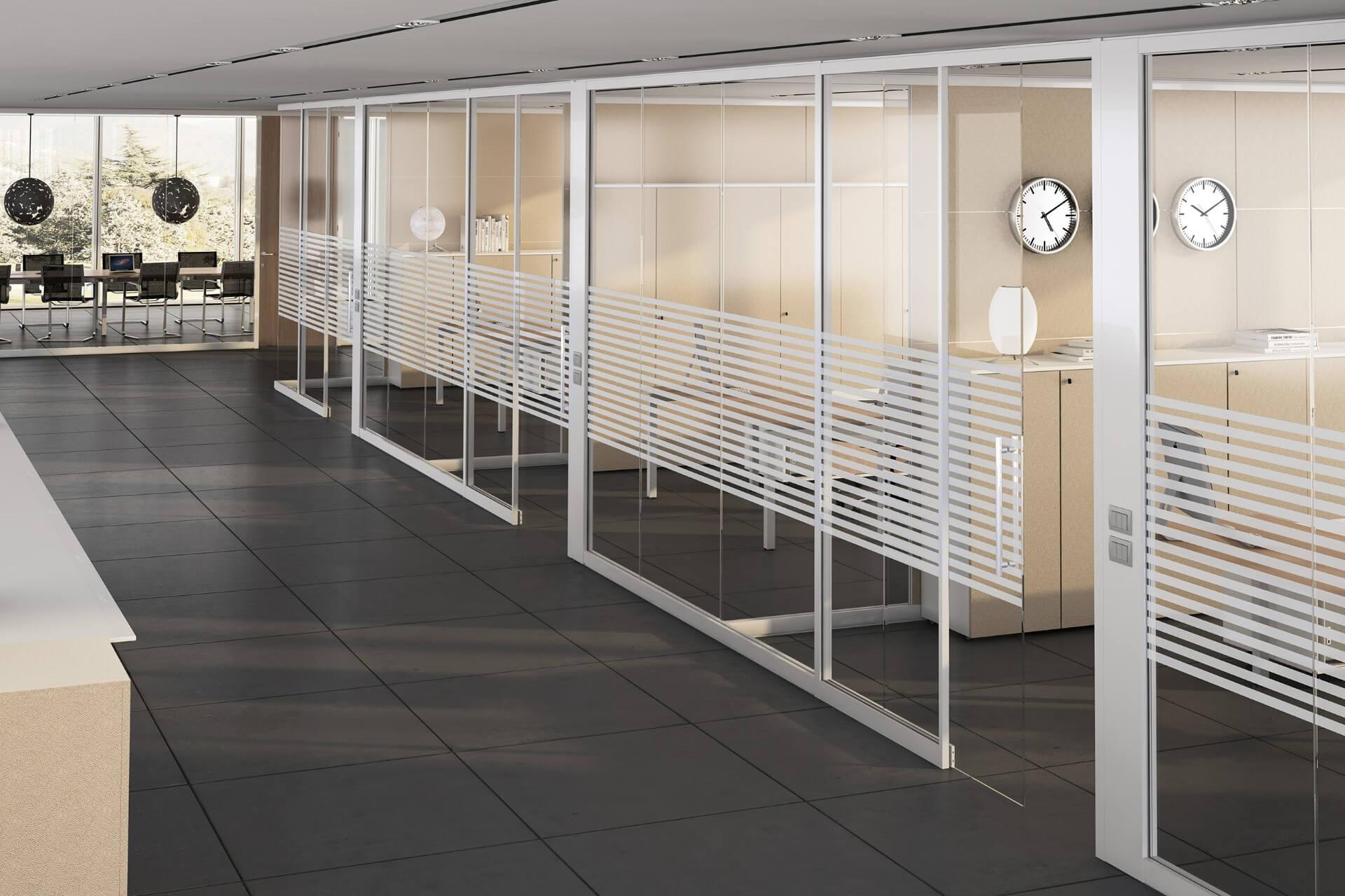 Pareti divisorie in vetro | Pareti vetrate