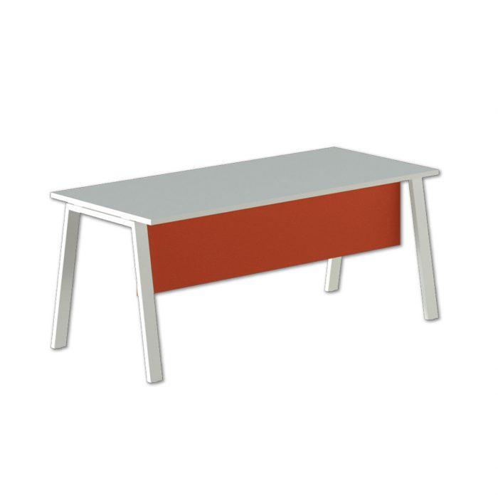 scrivania operativa con modesty panel alpha wood