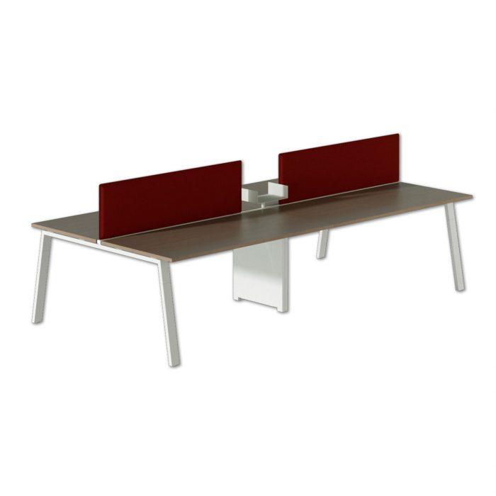 scrivania operativa moderna con pannelli divisori alpha wood